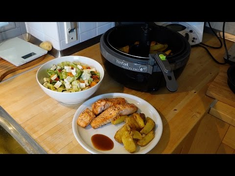 Tefal ActiFry 2in1 - LOW FAT Kartoffel Wedges & Lachs Rezepte (deutsch)