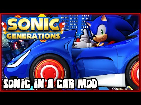 Sonic Generations PC - Speed Star AKA Sonic in a Car Character Mod