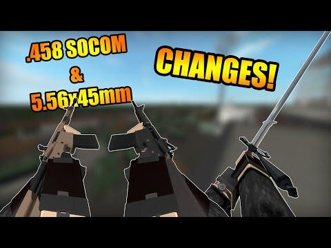 NEW CHANGES! .458 SOCOM & 5.56 For Beowulfs, Zweihander, WA2000 Buff & More (Phantom Forces TP)
