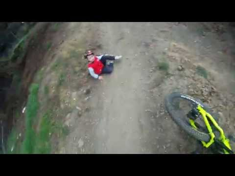 Mountain Biker Runs into an Unexpected Obstacle on the Course - A Kid [VIDEO]