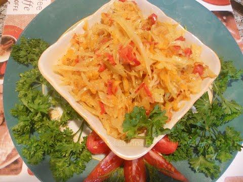 Капуста тушеная с овощами рецепт с фото