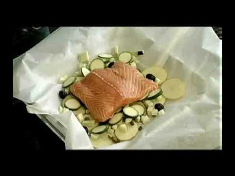 Salmone Norvegese…Vaporata con chips e salsa verde