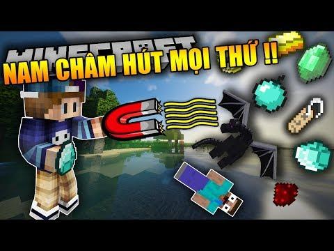 CỤC NAM CHÂM HÚT MỌI THỨ TRONG MINECRAFT !!?? Kinh Khủng Vãi | Minecraft Mod