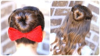 How to Create a Perfect Love Bun | Valentine's Day Heart Hairstyles - YouTube