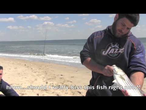 Sandy Hook Beach/ NJ Surf Fishing – May 2013