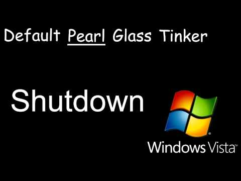 Windows Vista Theme Sounds Comparison (Default, Pearl, Glass and Tinker)