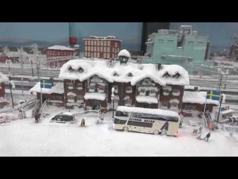 Miniatur Wunderland Hamburg 2018 - Schneelandschaft in Skandinavien