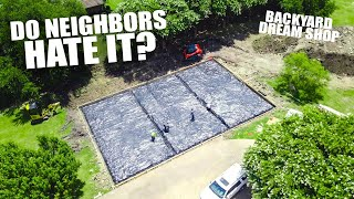 Building a MASSIVE SHOP in my back yard - What do the neighbors think? by Evan Shanks