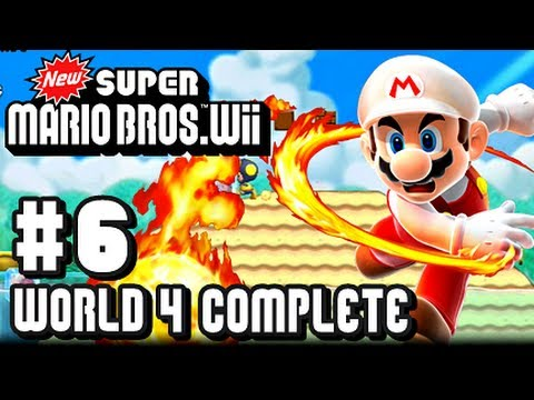 Wii - This is my Co Op 1080p HD Let's Play with live commentary of New Super Mario Bros Wii for the Nintendo Wii! This is part 6 and we complete all of World 4! Ma...