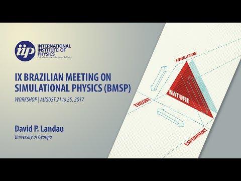 Tutorial 1 - Replica-Exchange Wang-Landau Sampling - Lecture 1 - David Landau