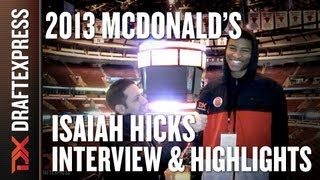 Isaiah Hicks - 2013 McDonald's All-American Game - Interview & Practice Highlights
