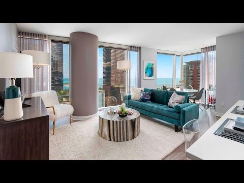 A luxury 2-bedroom, 2-bath model at Streeterville's new Moment apartments