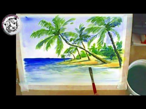 Como pintar acuarela paso a paso tutorial como pintar - Como pintarse bien ...
