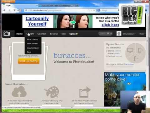 BigIdeaMastermind – Como Guardar as nossas imagens no Photobucket