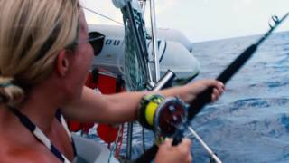 Last week, we had the best experience of the trip. We CAUGHT A MARLIN! We're working on the episode now, but thought you all might want to see this. Special thanks to Skabenga Lures (http://www.skabengalures.com) for teaching us how to fish!To find out more about our adventures, make sure to subscribe to our channel!  http://www.youtube.com/c/mondaynever?sub_confirmation=1