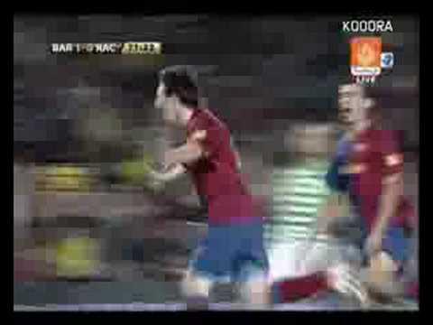 Racing 1 - 1 Barcelona (Liga Española 2008)