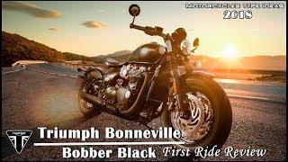8. 2018 Triumph Bonneville Bobber Black First Ride Review