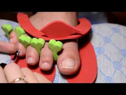 Комбинированный Педикюр, френч на ногтях/Как сделать аккуратный педикюр