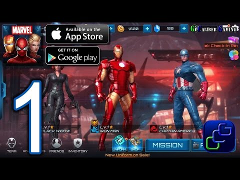 MARVEL Future Fight Android iOS Walkthrough – Gameplay Part 1 – Tutorial, Chapter 1 (NO IAP)