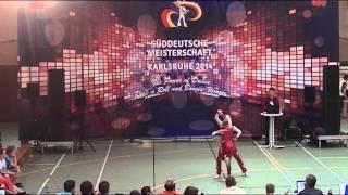 Johanna Wolf & Niklas Bahr - Süddeutsche Meisterschaft 2014