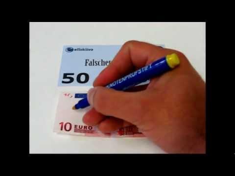 Anleitung Banknotenprüfstift Geldprüfstift Funktion