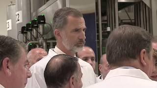 S.M. el Rey inaugura la nueva fábrica del Grupo Ybarra