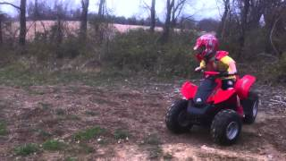 3. 2007 can am DS90 wheelie