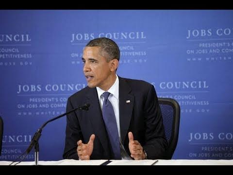 President Obama Addresses Council on Jobs and Competitiveness