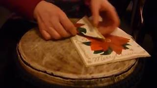 How to fold napkins for your Christmas table - YouTube