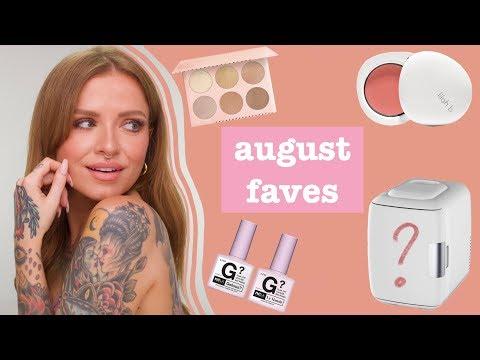 AUGUST FAVORITES | juicy cheeks, milky nails & a fridge