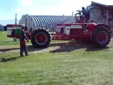 three tractors built into one (tractor pull)