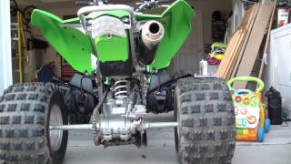 7. HMF Competion Exhaust KFX450R.  All three insert sound clips.