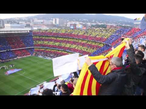 FC Barcelona Vs Real Madrid - Camp Nou Mosaic + Anthem