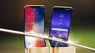 Video iPhone X vs Galaxy S8 Katana Scratch Test! MP3, 3GP, MP4, WEBM, AVI, FLV November 2017