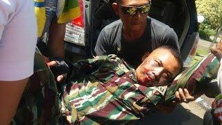 Detik detik anggota Paskhas TNI jatuh saat terjun payung