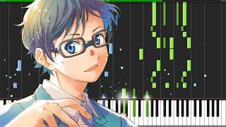 Hikaru Nara - Shigatsu wa Kimi no Uso (Opening 1) [Piano Tutorial]