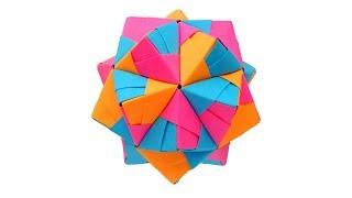 Многогранник из бумаги Оригами Икосаэдр Kusudama by Mitsunobu Sonobe