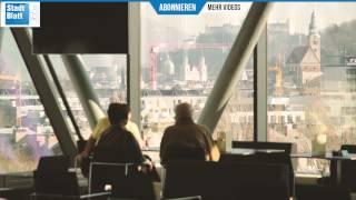 Bibliothek Salzburg: Lese-Lounge und Panoramabar eröffnet