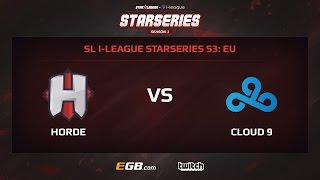 Horde vs Cloud 9, Game 1, SL i-League StarSeries Season 3, EU