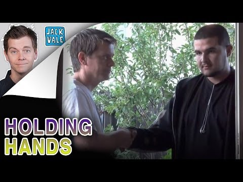 HOLDING HANDS IN AWKWARD SILENCE