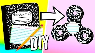 How to make a fidget spinner from school supplies! DIY fidget spinner without bearings! Video