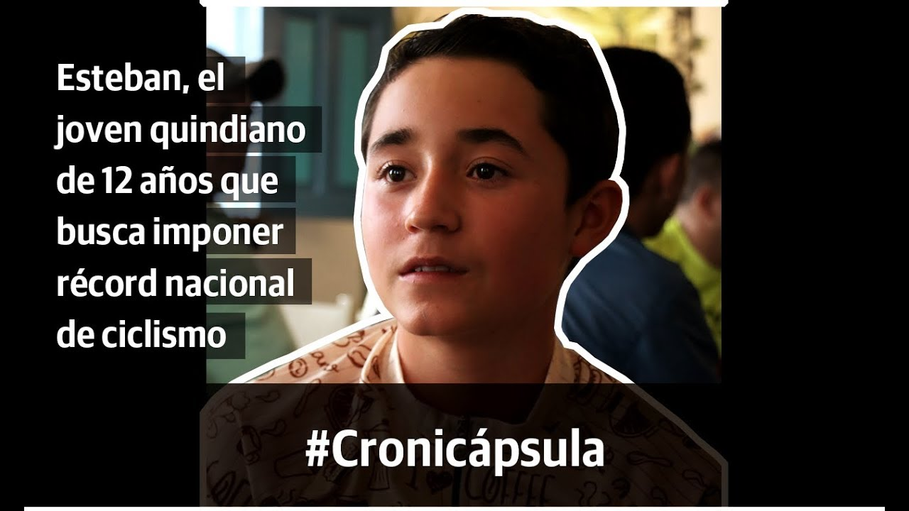 Esteban, el joven quindiano de 12 años que busca imponer récord nacional de ciclismo
