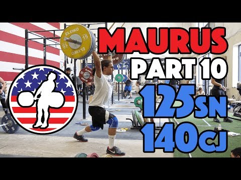 Harrison Maurus Part 10/11 Pre 2017 WWC Training 125kg Snatch + 140kg Clean And Jerk [4k60]