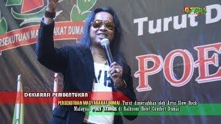 POEY STINGs dalam lagu ''Adakah kau Setia'' diacara Pengukuhan Persekutuan Masyarakat Dumai