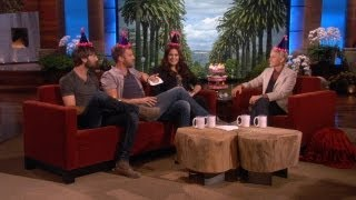 Ellen Throws Lady Antebellum's Hilary Scott A Baby Shower