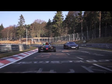 Nurburgring - This is first time that the 475hp Ariel Atom V8 and 650hp Noble M600 have been to the Nordschleife. They were scary as s***. Awesome times.