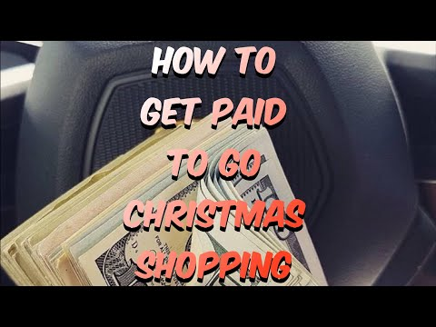 How To Get Paid To Go Christmas Shopping
