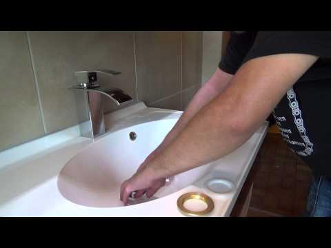 Stöpsel im Waschbecken tauschen / Push open Waschbecken garnitur wechseln