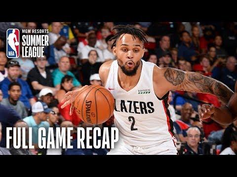Video: ROCKETS vs TRAILBLAZERS   Gary Trent Jr. Erupts For 31 in Win   MGM Resorts NBA Summer League