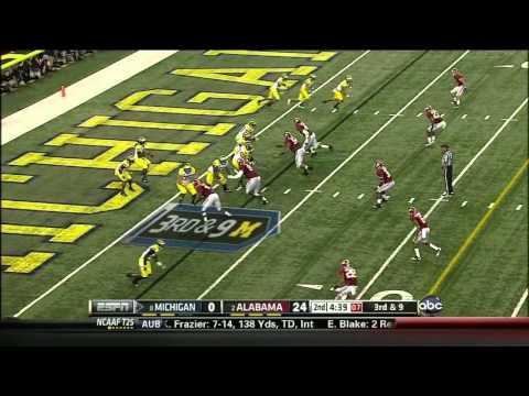 Taylor Lewan vs Alabama 2012 video.
